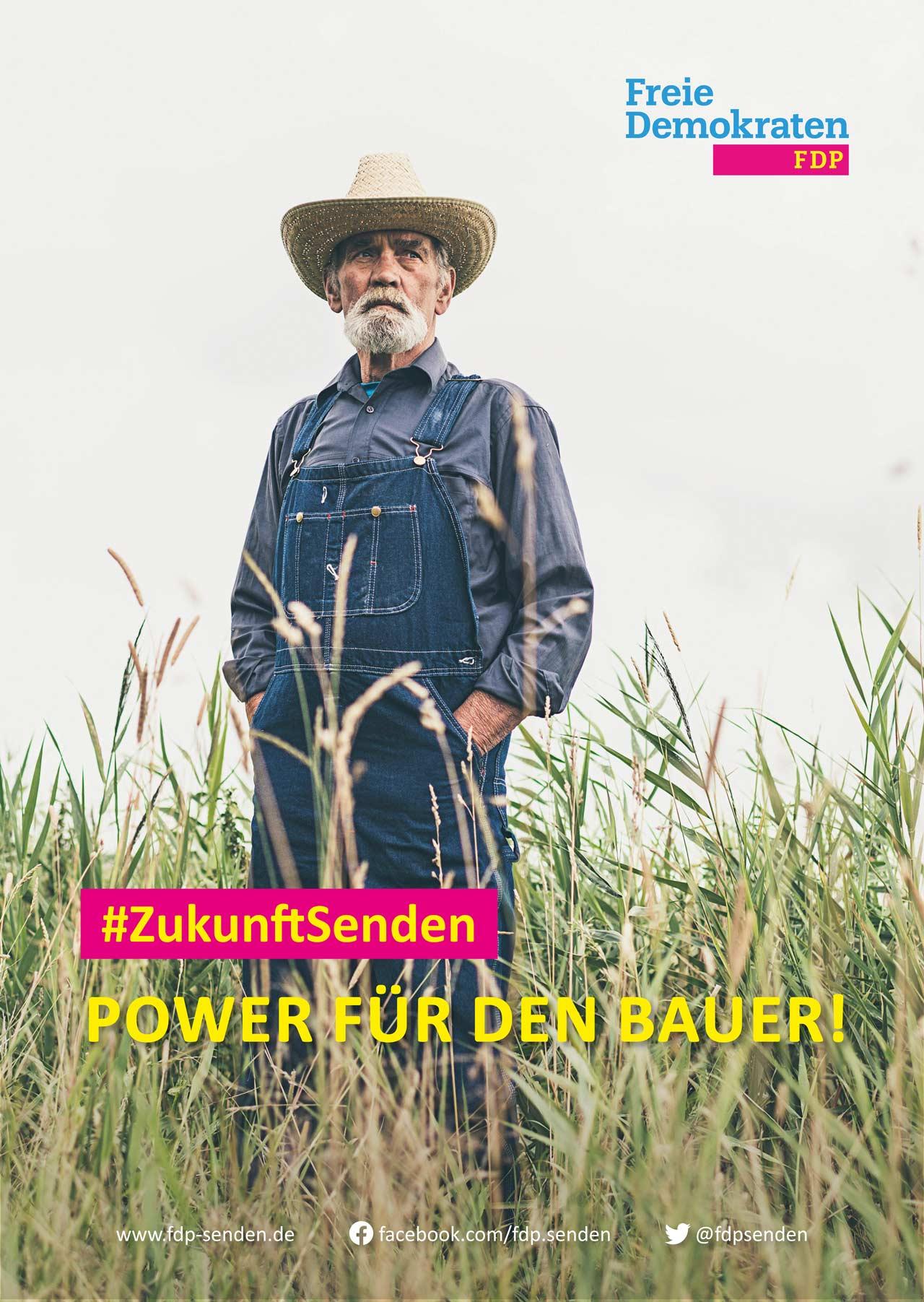 FDP-Senden_Wahlplakat-Bauer